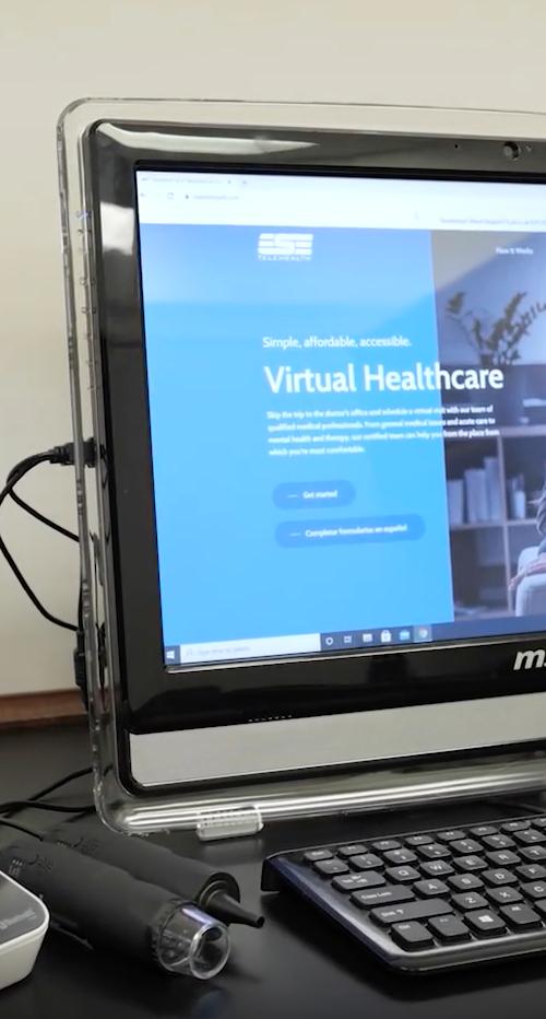 Nurse at Dooly County High School uses ESE Telehealth.